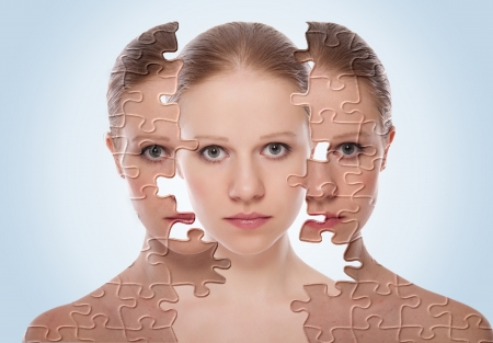 concept of cosmetic effects, treatment, skin care.  photo