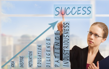 business woman, concept of  success, growth  photo