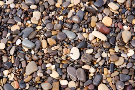 sea pebbles and stones, wet, texture, background photo