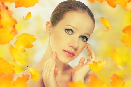 autumn portrait of a beautiful healthy young woman Stock Photo - 14721815