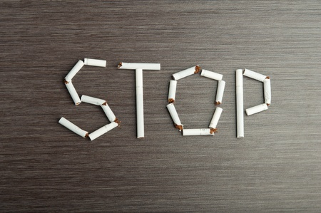 drug abuse: concept of the dangers of smoking. the word