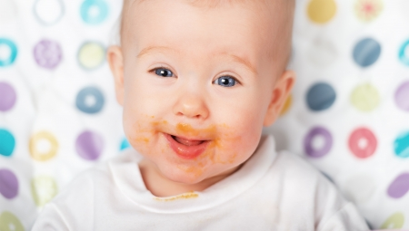 ridiculous funny baby eating dirty grimy photo