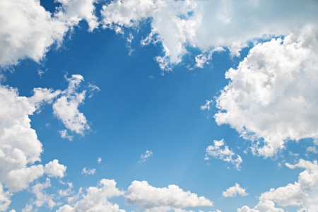 background. beautiful blue sky with white clouds
