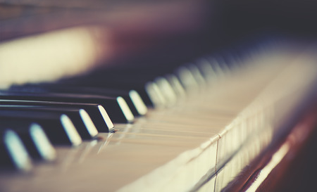 abstract music background: keyboard piano