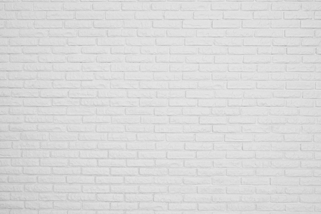 paint wall: the brick white blank wall Stock Photo