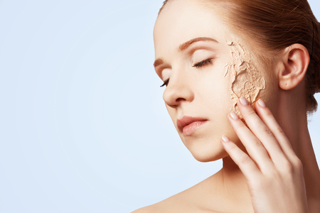 rejuvenation: beauty concept rejuvenation, renewal, skin care and skin problems