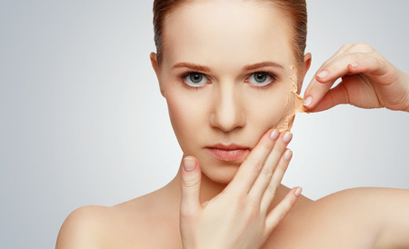 아름다움 개념 회춘, 갱신, 피부 관리 및 피부 문제