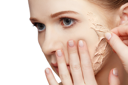 aging woman: beauty concept rejuvenation, renewal, skin care and skin problems