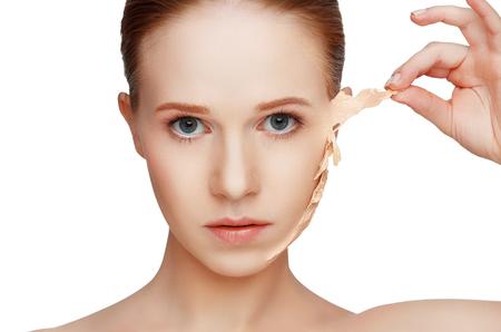 problemas concepto de belleza de rejuvenecimiento, renovación, cuidado de la piel y de la piel