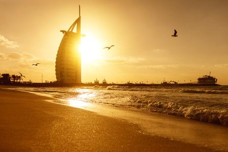 ブルジュ・アル・アラブ、ドバイ・アラブ首長国連邦UAEのホテル帆、2018年1月