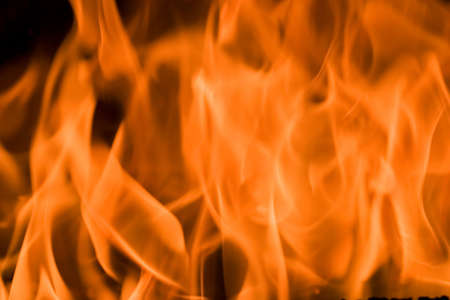 When Looking into fire everybody sees own scenes created by imagination and the current mood Stock Photo - 585299