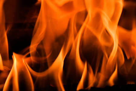 Flames in a fireplace in anybody house at cold weather Stock Photo - 735799