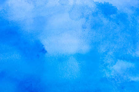 Wet on wet watercolor abstract homemade background, blue Stock Photo - 1356009