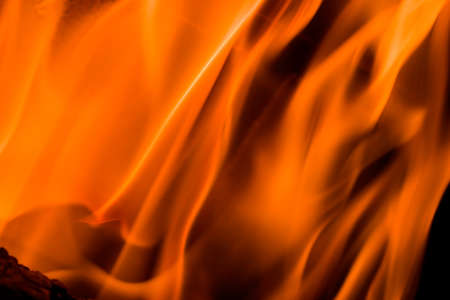 Flames in a fireplace in anybody house at cold weather Stock Photo - 1457171