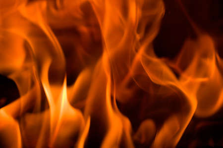Flames in a fireplace in anybody house at cold weather Stock Photo - 1806912