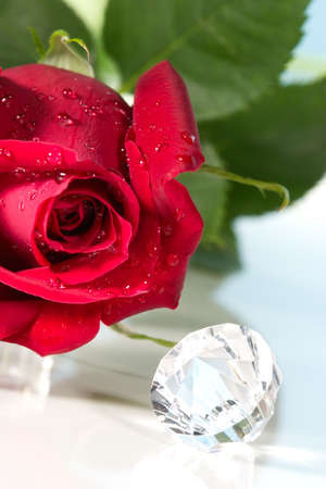 way to present a jewelry with beautiful rose on Valentine day.