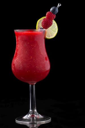daiquiri alcohol: Raspberry Daiquiri cocktails.  Stock Photo