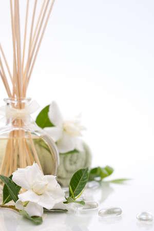 canne: Aromatico termale set - Emanatore e fiori freschi gardenia.