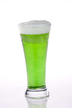 st  patricks: Glass of green beer for St Patricks Day Stock Photo