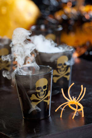 Closeup of Deadly Shot, vodka and hot pepper - Halloween drinks series Stock Photo - 10764347