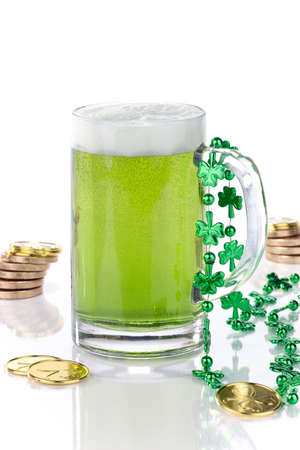Mug of green beer for St Patrick Stock Photo - 11885954