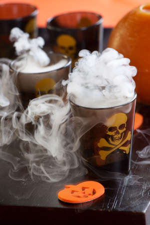 Closeup of Deadly Shot, vodka and hot pepper - Halloween drinks series photo