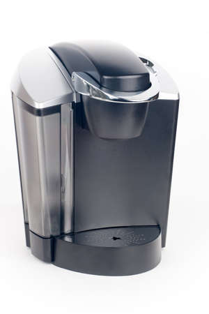 Closeup of expensive coffee maker over white Stock Photo - 17245745