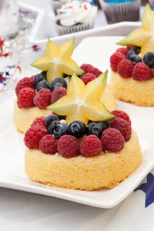 angel de la independencia: Bandeja de pasteles frescos �ngel fruta con la frambuesa, ar�ndano y Muffins frutas estrella