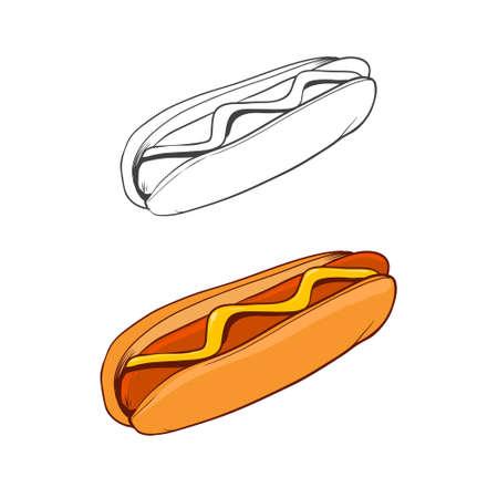 comida rápida: comida r�pida, simple ilustraci�n Vectores