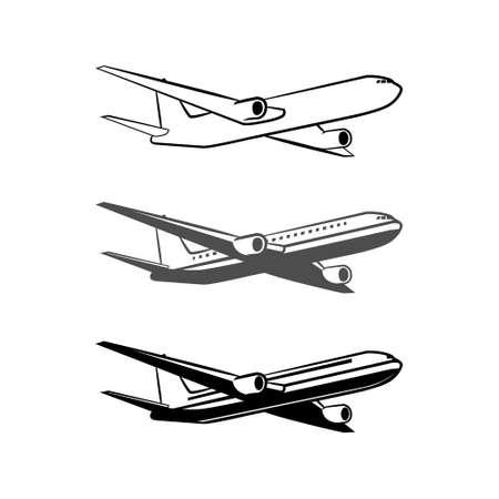 flight steward: plane icon, simple illustration Illustration