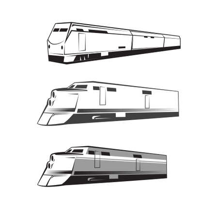 puffing: train icon, simple illustration