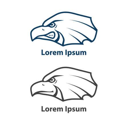 teammate: eagle, for sport team, emblem, element of design Illustration