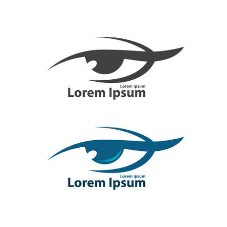 ophthalmologist: Eye vision vector , optics, search, research, ophthalmologist symbol, simple illustration