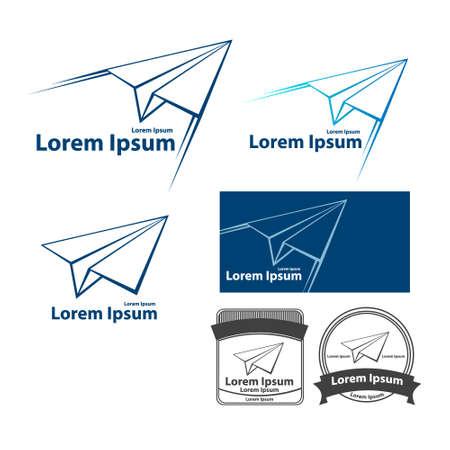paper flying: paper plane flying vector design template