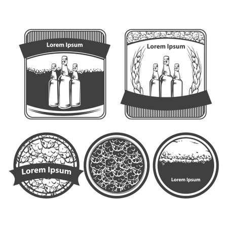 brewery: craft beer brewery emblems, design elements
