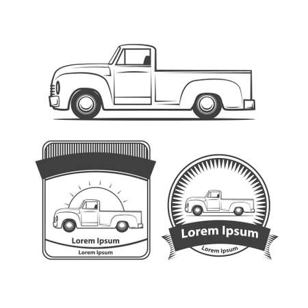 low tire: pick up profile view, club , design elements, emblems