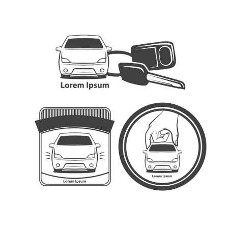 trinket: car rental or sale concept, car key with trinket