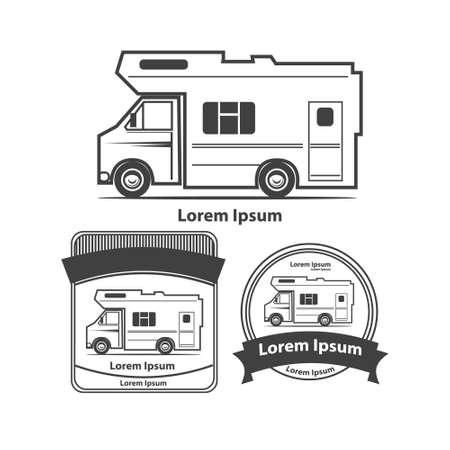 camping truck 向量圖像