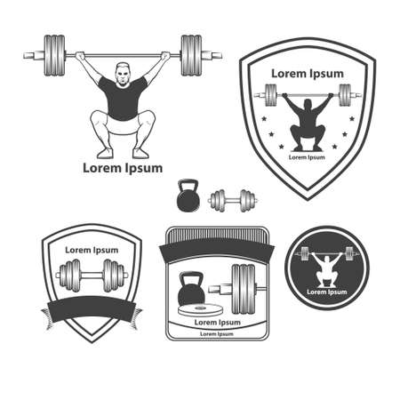 iron cross emblem: crossfit training concept, weightlifting