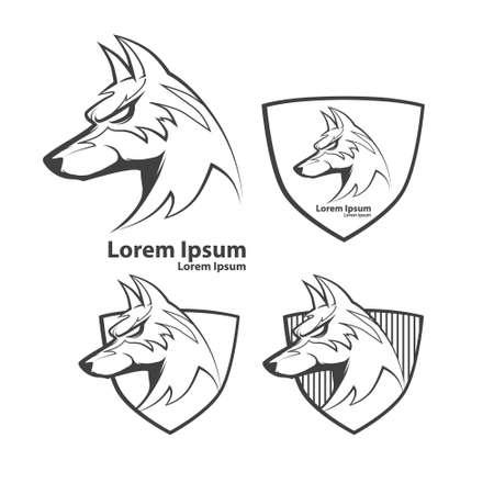 perro furioso: perro, símbolo americano de fútbol, ??simple ilustración, emblema del equipo deportivo, elementos de diseño y etiquetas, la idea de seguridad