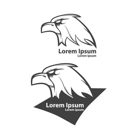 eagle, american football symbol, simple illustration, sport team emblem, label Illustration