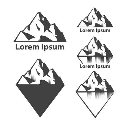 set of mountains Illustration