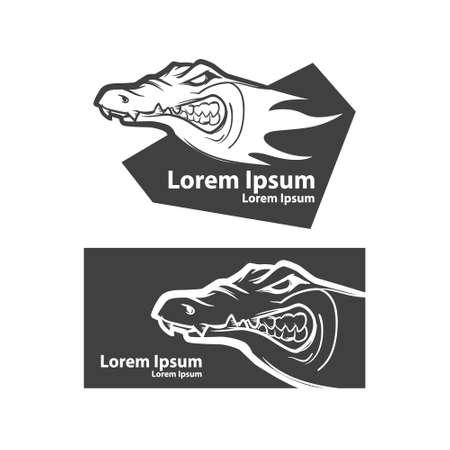 sport team: crocodile head, american football symbol, simple illustration, sport team emblem, mascot idea