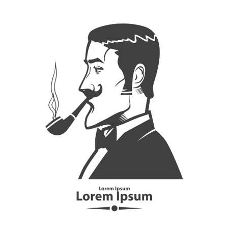 smocking: man with pipe