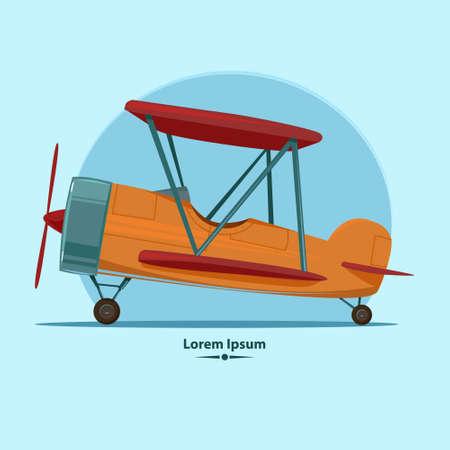 pilot cockpit: cartoon airplane, for your design, color vector illustration
