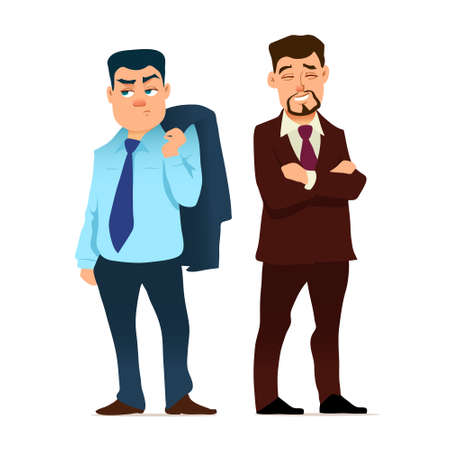 business people, cartoon illustration, businessman in various poses, characters, men