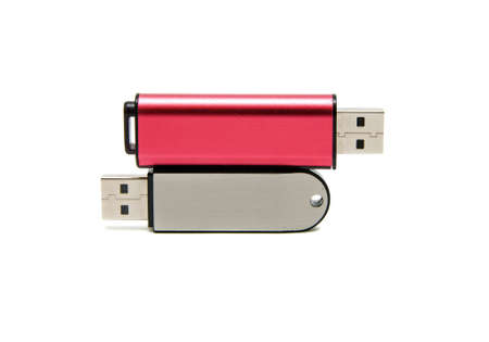 plugins: two flash drives on a white background Stock Photo