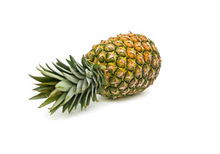 large pineapple on white background close up
