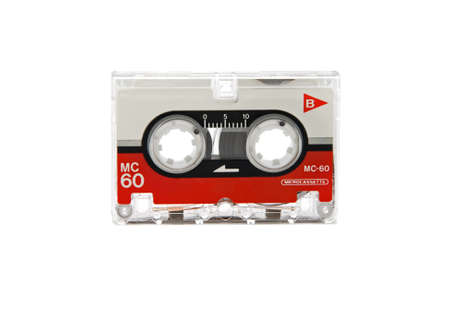 audio microcassette closeup on white background Stock Photo - 9222949