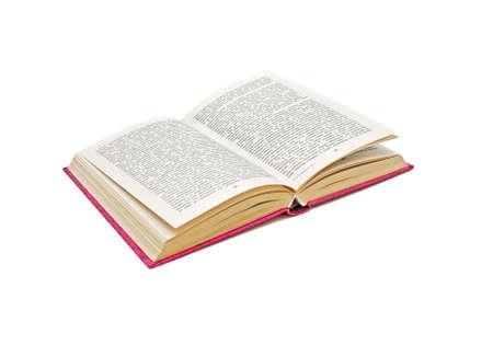 libros abiertos: Detalle de libro abierto sobre fondo blanco. Aislamiento.